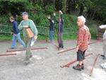Les yoles à l'Escale espagnole à Pors-Meilloù