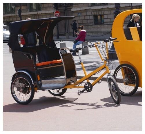 Transports écolo à Paris.