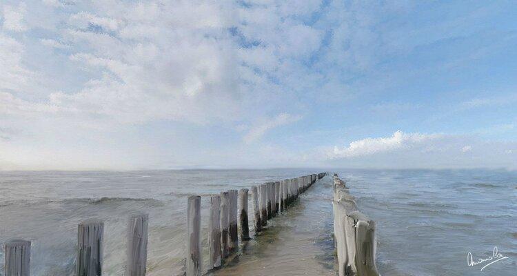 La mer de wenduine en Belgique