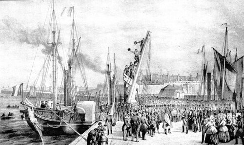 Louis XVIII débarque à Calais, cette fois pour de bon