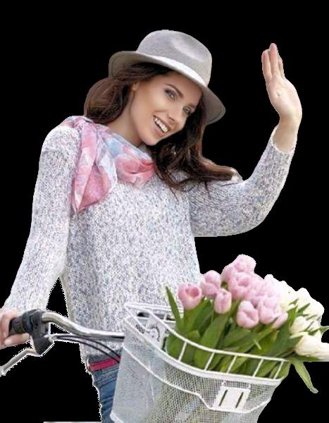 Tubes femmes fleurs création 18