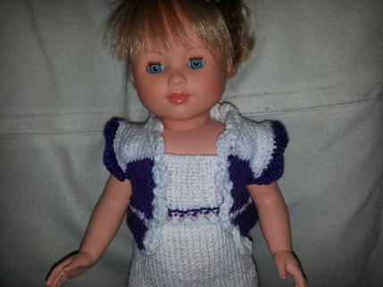 Tuto boléro blanc violet