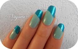 Nail Art Swirl Aqua