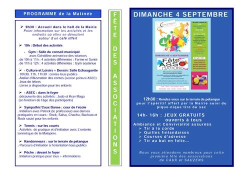 Programme de la fête des associations