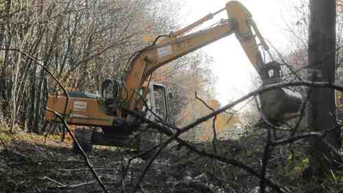 20 novembre 2014-chantier du Center Parcs--source Reporterre 23 12 14--image/photo pouvant être protégée par Copyright ou autre ;
