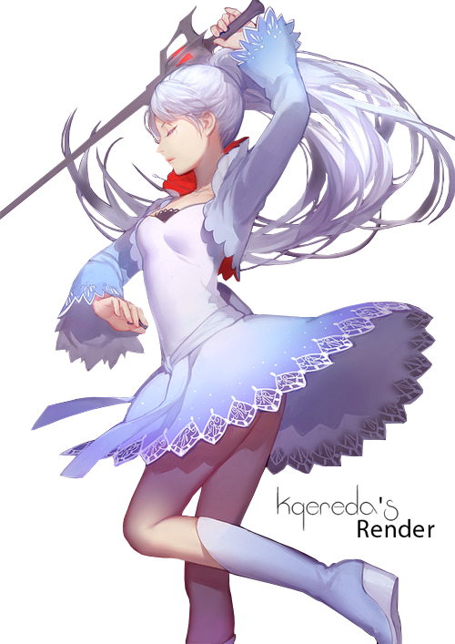 Render Animes et Manga - Renders Rwby Weiss fille cheveux blanc
