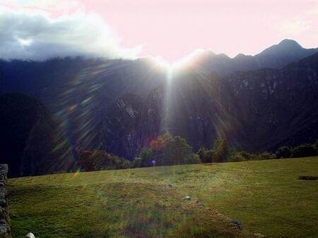 Lever du jour au Pérou-image du net