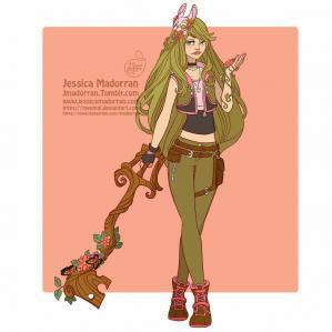 Jessica madorran character design bunny day 04 kingdom hearts 2019 artstation