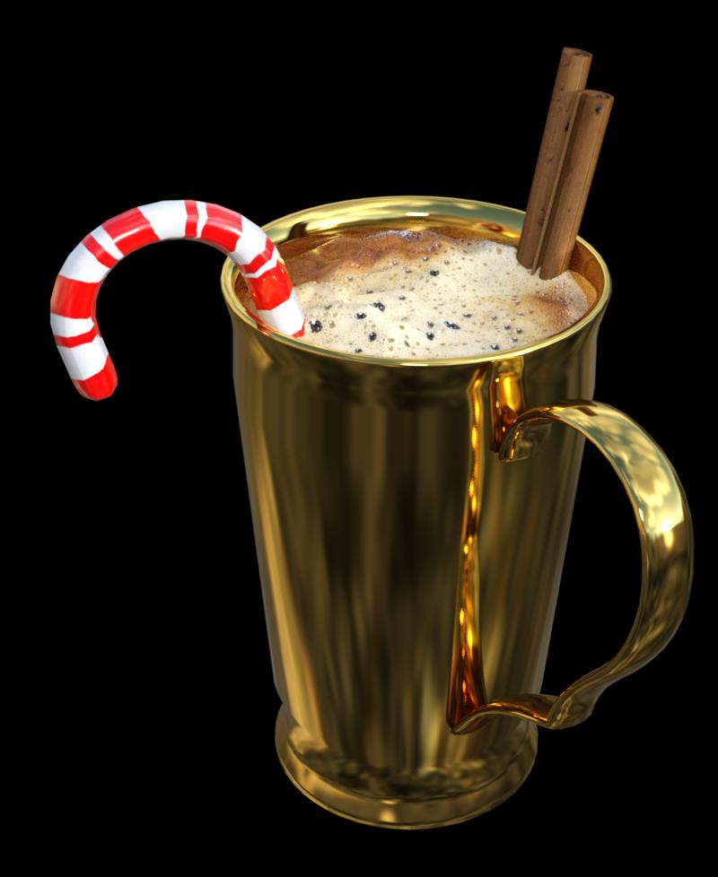 Tube de café de Noël à la cannelle (render)