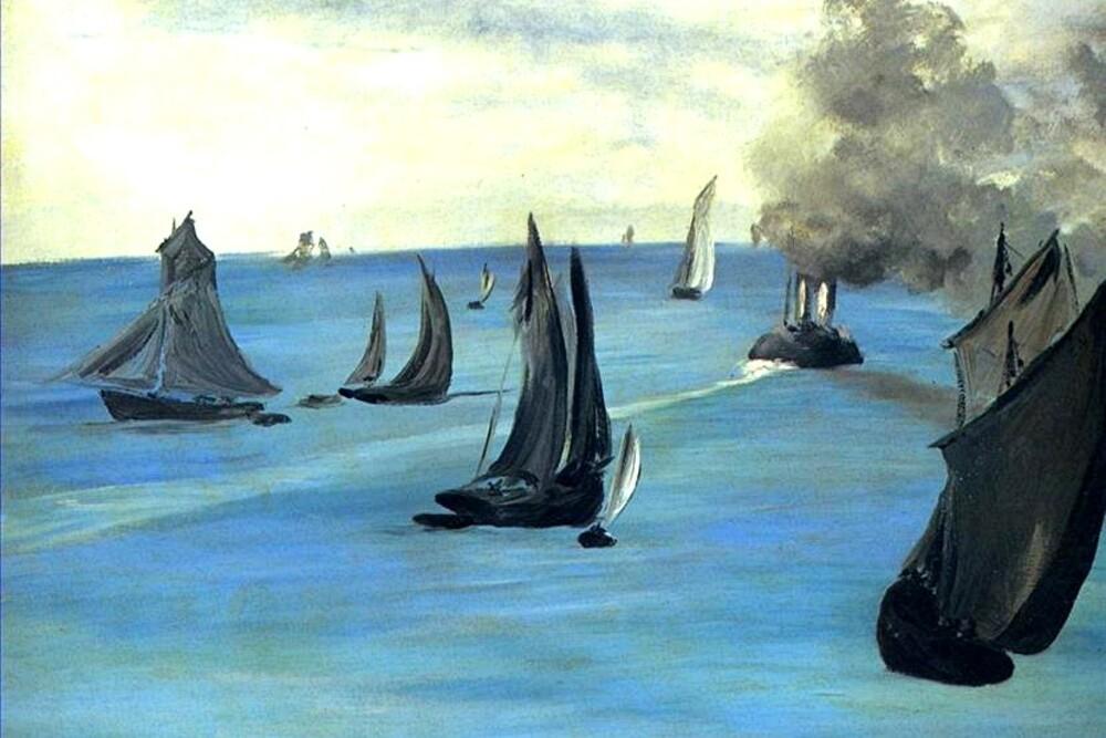 Manet 7 /      1864- la bataille du Kearsage et de l'Alabama