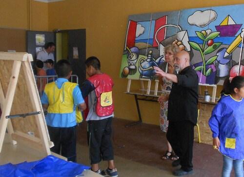 Projet de Fresque de l'école J- Néo à Elne.