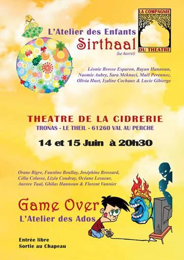 Représentation des Ateliers Théâtre les 14 & 15 juin