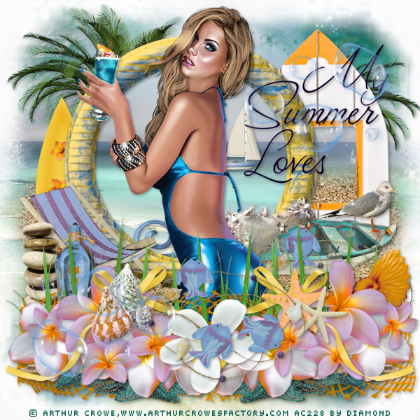 "Atelier Wordart + kit ""Summer at the beach"" chez Delire2scrap"