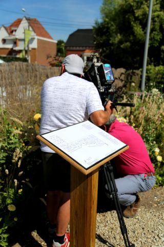 Jardin & Loisirs en tournage à la Roseraie