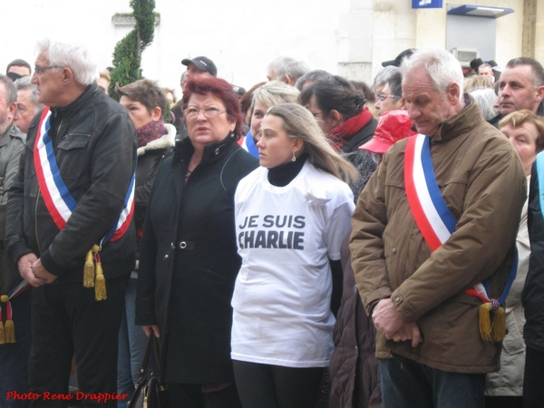 Le rassemblement républicain du 10 janvier 2015, à Châtillon sur Seine, vu par René Drappier