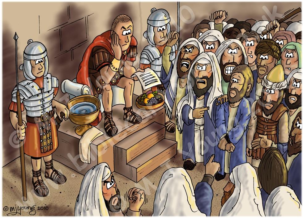 Mark 15 - Trial of Jesus - Scene 05 - Jesus before Pilate
