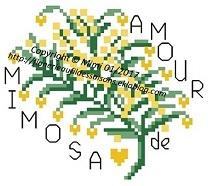"""Grille """" Amour de Mimosa """""""