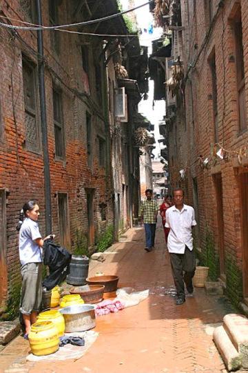 scénes de rue dans Kathmandu