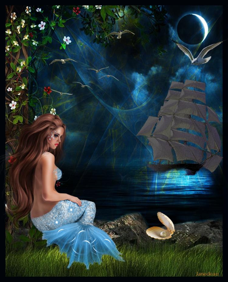 L'attente de la belle Aquamarine