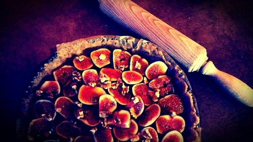 Tarte figues miel et noix