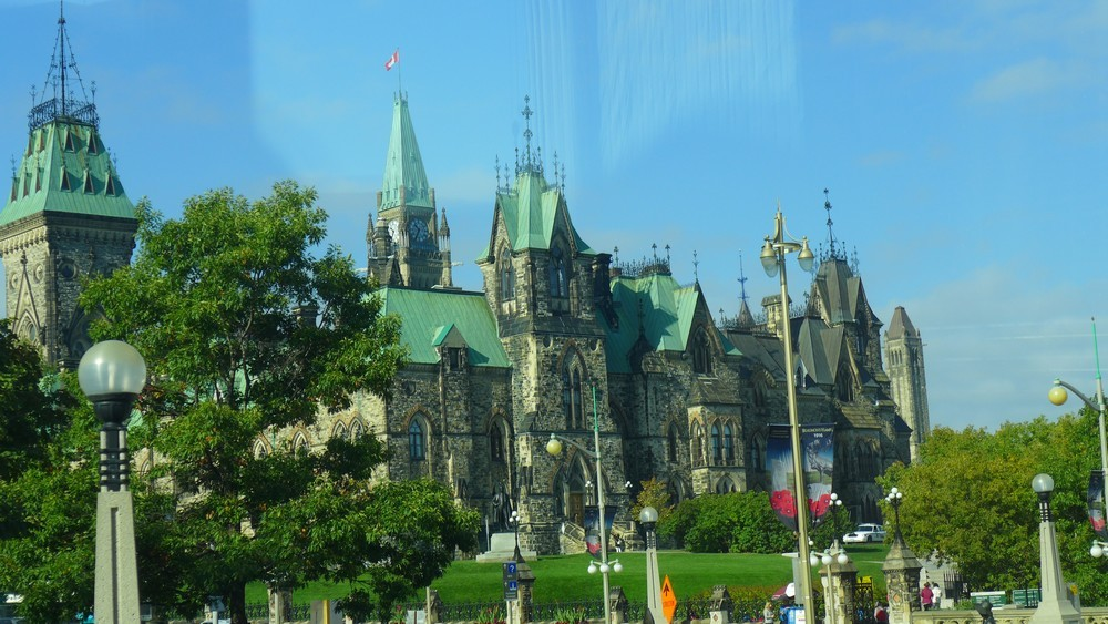 Les bâtiments du Parlement à Ottawa...