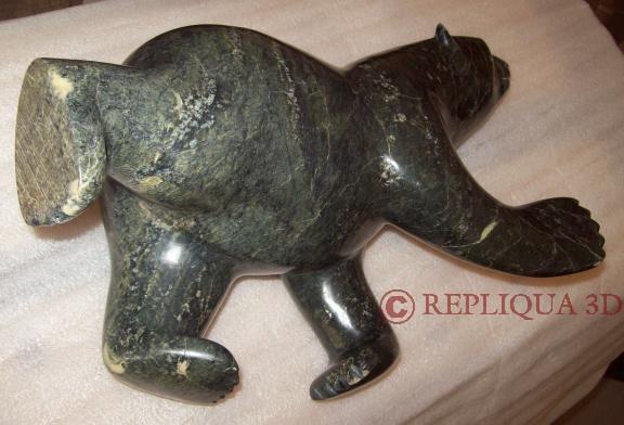 restauration statue d'ours en cours - Repliqua 3D: sculpteur sur pierre
