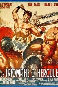 Après l'assassinat du bon roi des Mycènes par le neveu de celui-ci qui convoite le pouvoir, le fidel Eurystheos prend le maquis et avertit Hercule des drames ensanglantant le pays. Le neveu du défunt veut faire épouser Atis, sa cousine, à l'un de ses complices, afin de régner par cet homme de paille...-----...Origine du film : Italie Réalisateur : Alberto De Martino Acteurs : Dan Vadis (Ercole (Hercules)), Marilù Tolo (Princesse Ate), Pierre Cressoy (Prince Milo), Moira Orfei (Pasiphae, la sorcière), Piero Lulli (Euristeo) Genre : Péplum Durée : 84 minutes Année de production : 1964 Titre Original : Il Trionfo di Ercole