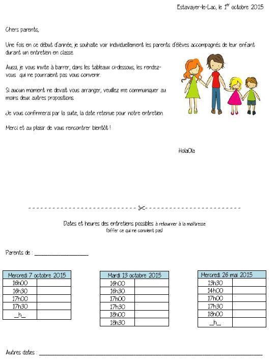 rencontre de parent primaire