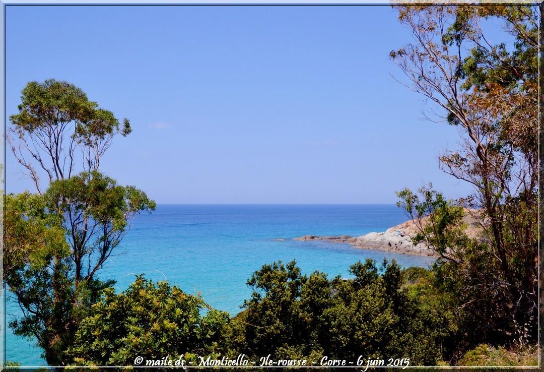 Monticello - Ile-Rousse - Corse -Bleu comme la mer