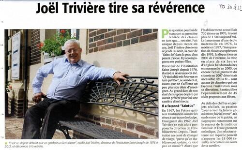 Le départ de Joël Trivière