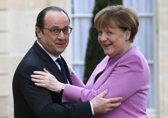 François Hollande et Angela Merkel, le 4 mars à l'Elysée.