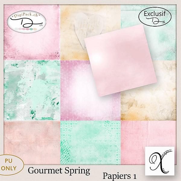 Gourmet spring papiers 1