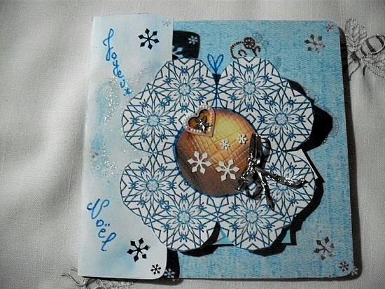 carte noel bleue bleue