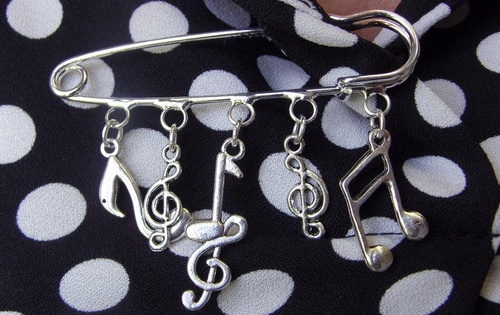 Broche notes de musique
