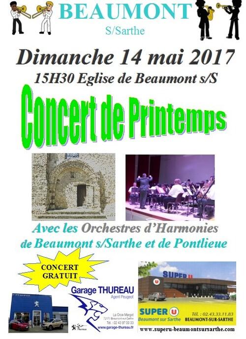 Concert de Printemps 14 Mai à Beaumont