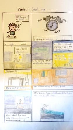 CE1-CE2 : One day in Bucana school