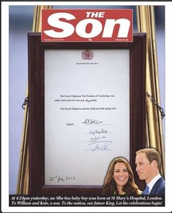 """"""" It's a boy ! """" ... mais pas celui auquel vous pourrriez penser au regard de l' actualité !"""
