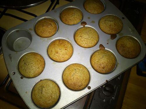 Muffin à la farine de châtaigne et aux noix...