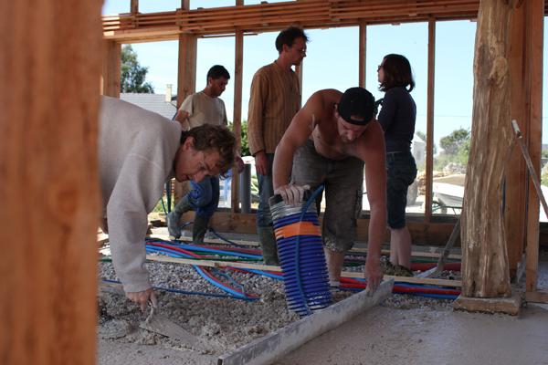 chantier collectif dalle chaux/liège