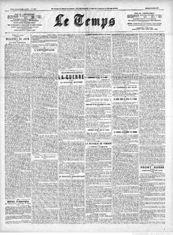 Le Temps, 25 mars 1916