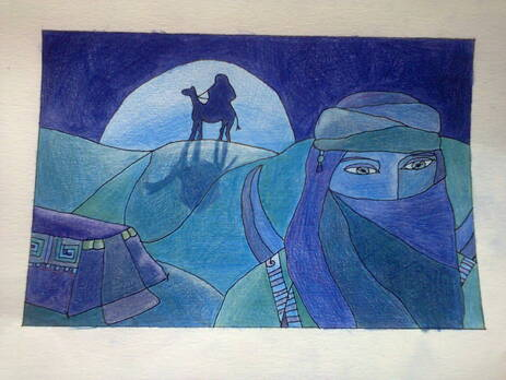 WIP : Camaïeu de bleu - Caravane du désert