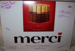Schokoladenvorrat für einen Monat