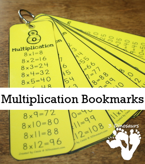 Porte clés tables de multiplications