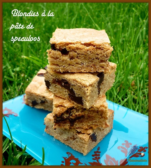 Blondies à la pâte de speculoos