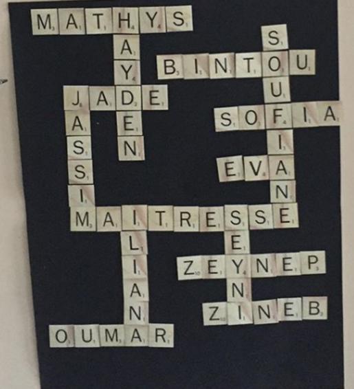 Alphabet scrabble