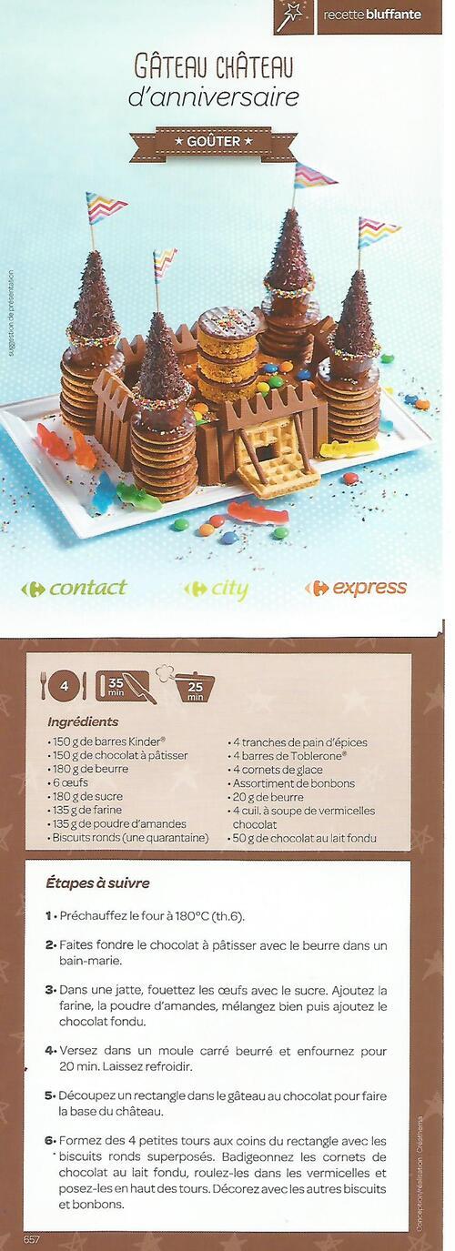 gâteau d'anniversaire château