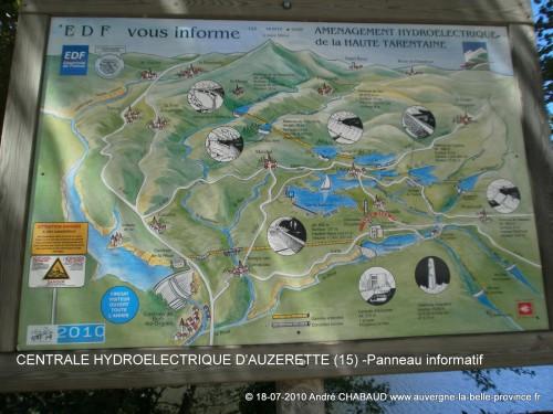 PANNEAU INFORMATIF-CENTRALE HYDROELECTRIQUE D'AUZERETTE