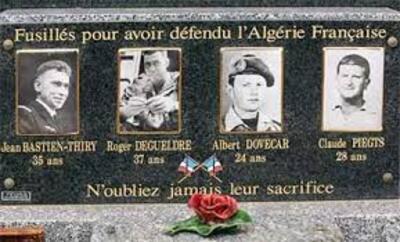 Aux nostalgiques de l'Algérie Française, aux anciens de l'OAS,  et aux extrémistes de tous poils ......