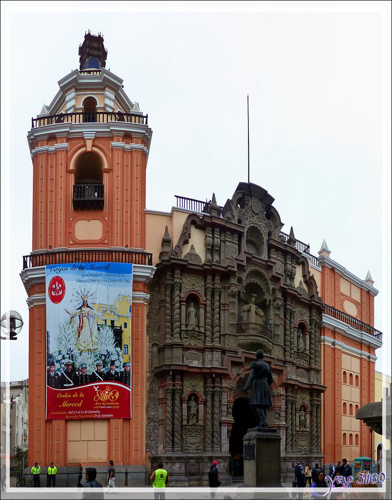 Balade le nez en l'air dans le Lima historique (Pérou) : Eglise de la Merced (Basílica de Nuestra Señora de la Merced)