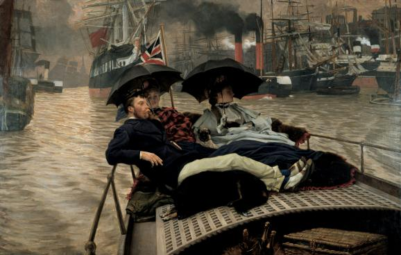 "James Tissot, ""On the Thames\"", 1876, Angleterre, Wakefield, The Wakefield Permanent Art Collection"